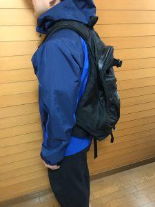 グレゴリー(GREGORY)のバックパック DAY PACK 26Lを背負った写真