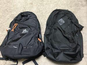 グレゴリー(GREGORY)のバックパック DAY PACK 26Lとコールマン アトラス 30の比較