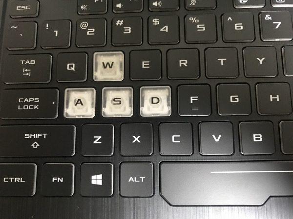 よく使うボタンは白