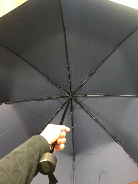 Wpc折りたたみ傘の大きさは大きめ