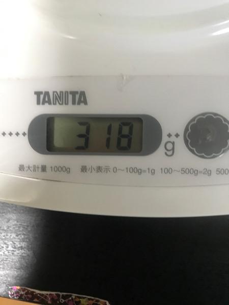 重量は318g